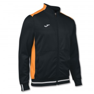 Bluza JOMA Campus II Man fleece black/orange fluor